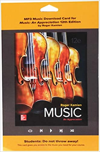 MP3 Download Card for Music: An Appreciation: Roger Kamien Music: An