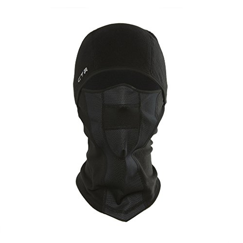 Chaos -CTR Tempest Multi Tasker Pro Micro Fleece Balaclava with Windproof Face Mask, Black, Small/Medium