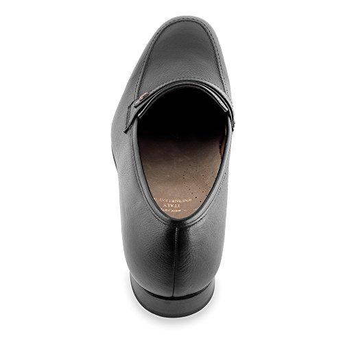 Masaltos - Chaussures rehaussantes pour homme. Jusqu'à 7 cm plus grand! Modèle Bruxelles noir taille 44