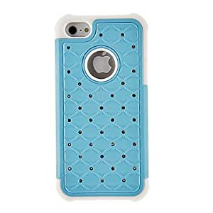 RC - Zircon Ornament 2 in 1 Silicone Back Case for iPhone 5/5S(Assorted Color) , Purple