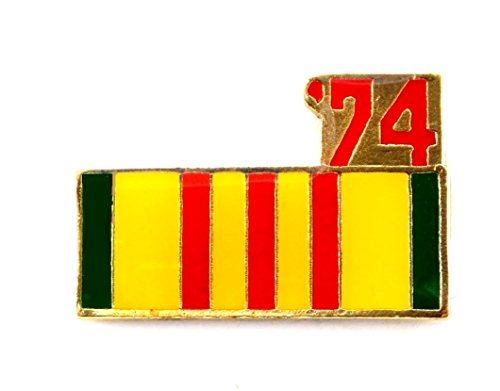 (Vietnam Veteran 1974 Ribbon Lapel Hat Pin Marines Army Navy Air Force PPM802)