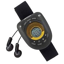 Jensen SAB-55BK Black Limited Edition Sport Armband LCD Display Digital AM/FM Stereo Radio DBBS & Digital Clock Function Built-in Belt Clip & Sport Earbuds Included