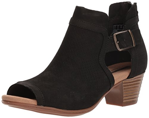 CLARKS Women's Valarie Kimble Heeled Sandal, Black Nubuck, 7 Medium US
