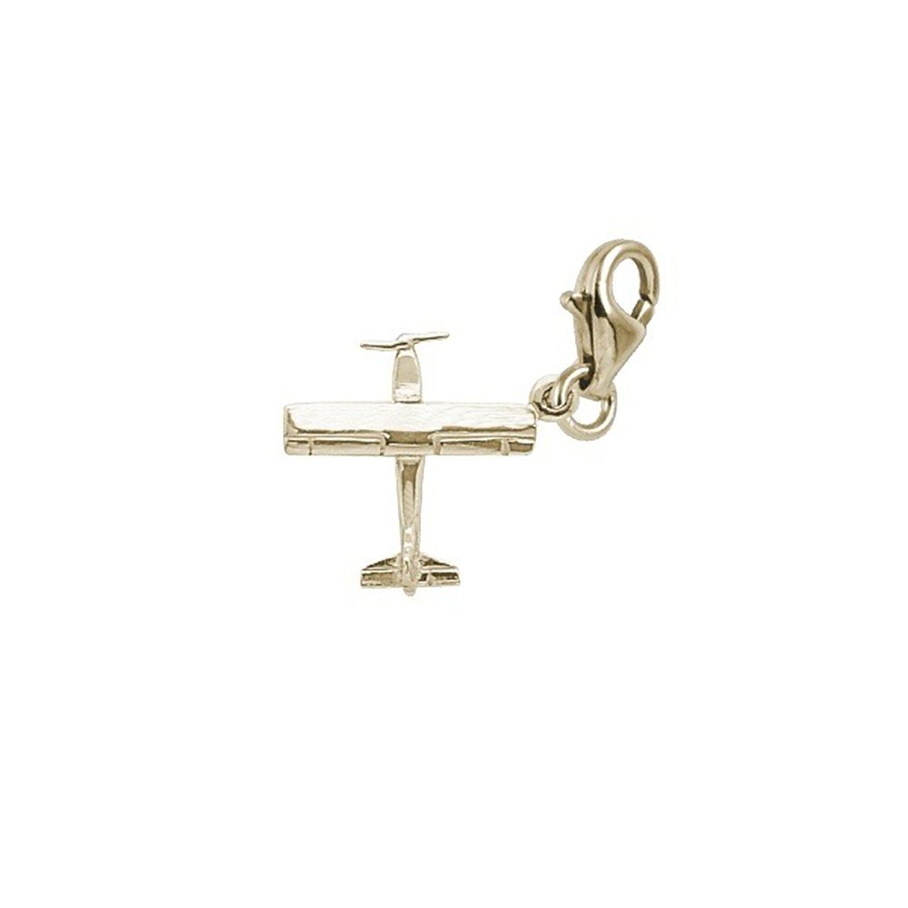 Airplane Charm With Lobster Claw Clasp Charms for Bracelets and Necklaces