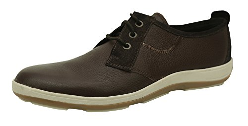 Andrew Fezza Af-l9604 Scarpe In Pelle Di Mike Oxford Con Finiture In Pelle Scamosciata Marrone