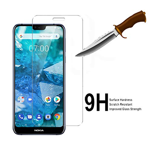 [3-Pack] Nokia 7 1 Screen Protector,RUIHUI 9H Hardness [Case  Friendly][Anti-Scratch][Bubble Free] Hardness Ultra Slim Premium Tempered  Glass for Nokia