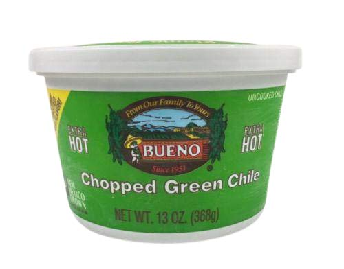 Extra Hot Chopped Green Chile, 13oz. Tubs, 6-Pack, Frozen