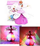 Vivir Plastic Rotating and Flashing Light Angel Girl Musical Toy for 2 Year Old