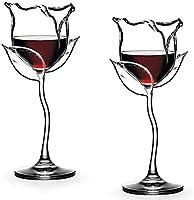 Copa de Vino Tinto Personalizada Forma Creativa de Rosa