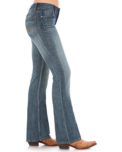 Wrangler Women's Mid Rise Boot Cut Jean, Blue, (Wrangler Mid Rise)