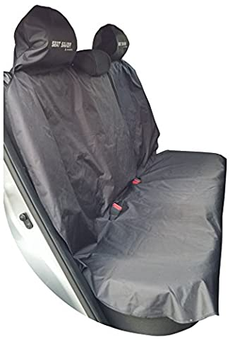 Seat Saver – Car Back Seat Cover - Waterproof Removable Universal Auto Bench Protector - Easy on and Off, Protects Vehicle Rear Seat