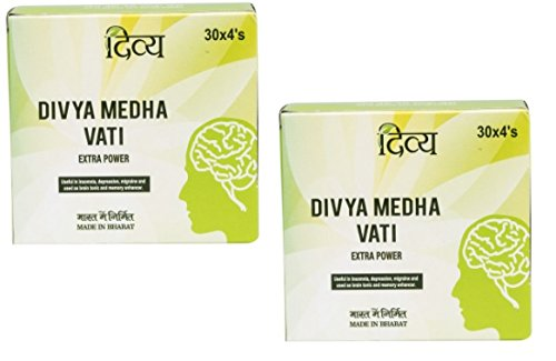 Divya Medha Vati Extra Power 120 Tablets x 2 Packs