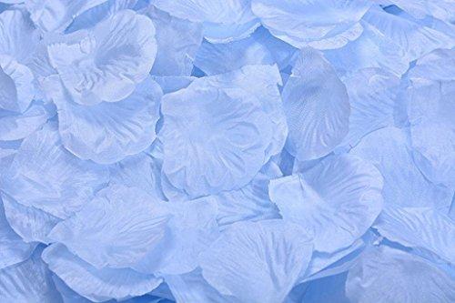 4000 Roses Silk (OIVA 4000 Pcs Dark Silk Rose Petals Wedding Artificial Flower Decoration (Light Blue))