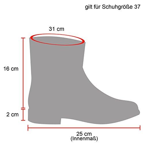 Stiefelparadies Damen Schlupfstiefel Wildleder-Optik Stiefel Schnallen Schuhe Boots Gefütterte Stiefeletten Flandell Khaki