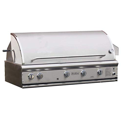 Profire Professional Deluxe Series 48-inch Built-in Infrared Hybrid Propane Gas Grill With Rotisserie - Pfdlx48rih-p