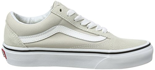 Silver White Adults' Unisex Lining Low Trainers Vans Beige Old Skool Top True tqwSxPP8RF