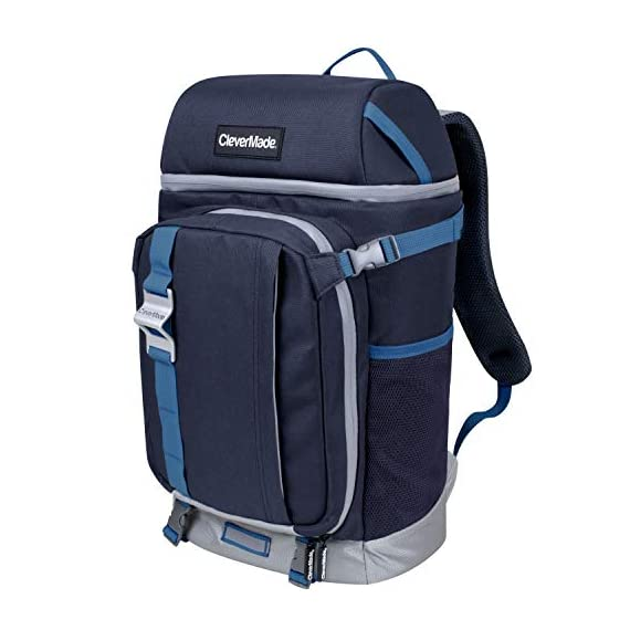 CleverMade-Cardiff-Backpack-Cooler-Bag-Insulated-Soft-Leakproof-Cooler-with-Bottle-Opener-Dry-Storage-Compartments-and-Mesh-Side-Pockets
