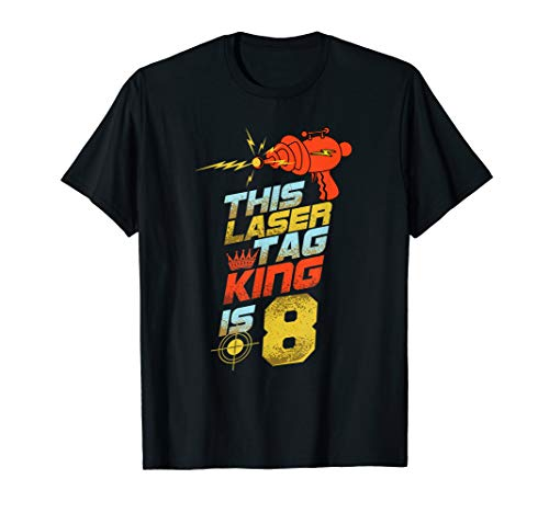 Kids 8 Year Old Laser Tag Birthday Party 8th Gift Shirt