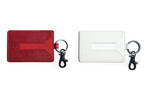 Matte White Model - T Sportline Tesla Model 3 Key Card Holder Set of 2 (Red + White)