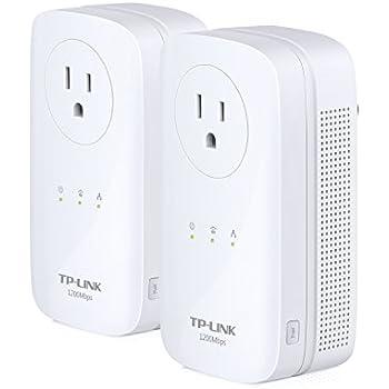TP-Link AV1200 Power Line Starter Kit, 3-Port Gigabit, Pass-through, Up to 1200Mbps(TL-PA8030P KIT)