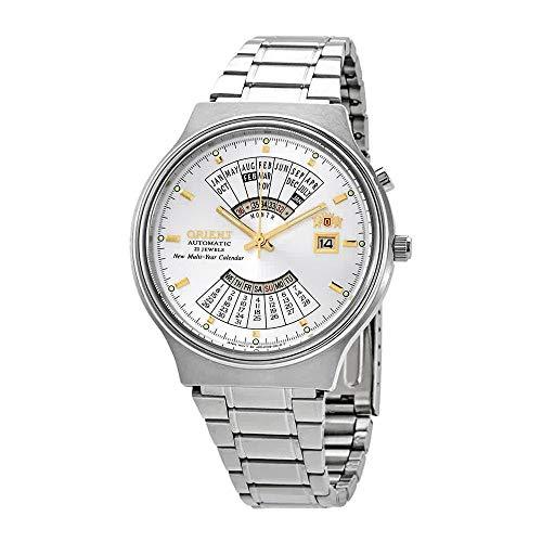 Orient Multi Year Calendar Perpetual World Time Automatic White Dial Men's Watch FEU00002WW