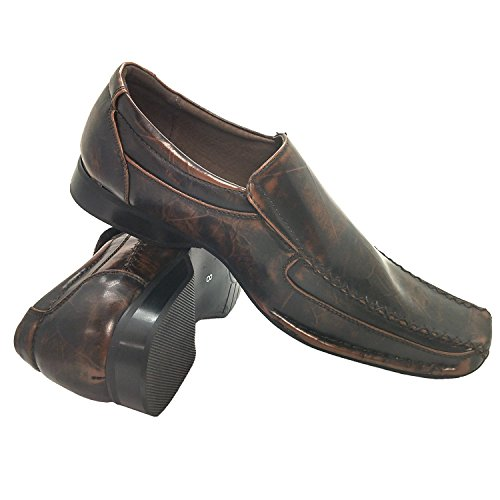Leather Style Bardo Square Dress Seam Brown Loafer Fashion Shoe Lining Bicycle Toe Coronado with Men's qRwnXH1PH