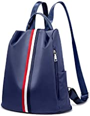Rucksack Damen Segeltuch Backpack Anti Diebstahl Leicht Schultasche