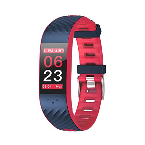 Price comparison product image Boofab Smart Bracelet, P4 Fitness Tracker&Wristband IP67 Colorful UI Touch Screen Watch Tracker with Heart Rate Monitor& Calorie Counter Bracelet for Unisex Women&Men,  Android&iO (red)