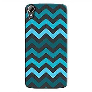 Cover It Up - Jagged Blue Desire 828Hard Case