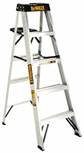 DeWalt DXL2010-05 5-Feet Aluminum Stepladder Type IA with 300-Pound Duty Rating, 5-Feet