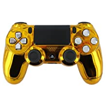 """Gold Chrome Plated"" PS4 Custom Modded Controller Chrome Buttons, No Signal Interuption via Bluetooth"