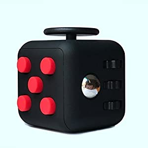 CHIRISEN Fidget Toy Relieves Stress And Anxiety for Children and Adults Anxiety Attention Toy (Pink) (&01 Fidget Cube USA,Black Green #) from CHIRISEN