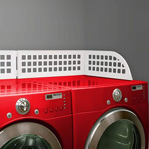 Haus Maus - The Original Laundry Guard - Keep Laundry from Falling Behind Your Washer/Dryer - Magnetic - Fits Most Front Load Washing Machines - Designed by a Minnesota Mom and Made in North America