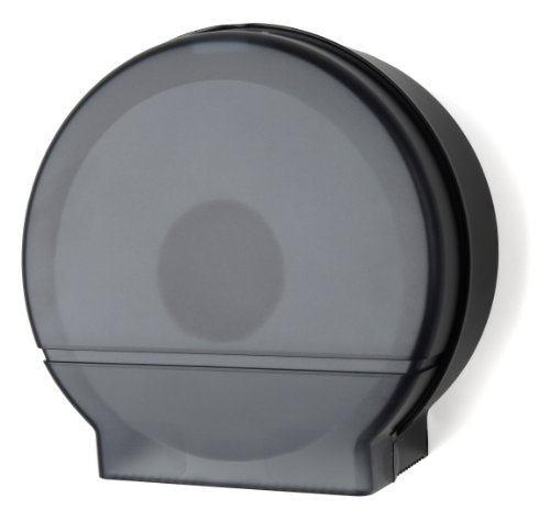 (Palmer Fixture RD0026-02F Single Roll Jumbo Tissue Dispenser with Core Adaptor, Black Translucent)