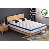 Rucas 10 inch Memory Foam Innerspring Hybrid Mattress CertiPUR-US Certified Adaptive Foam with iCoil System Bed in a Box (Queen)