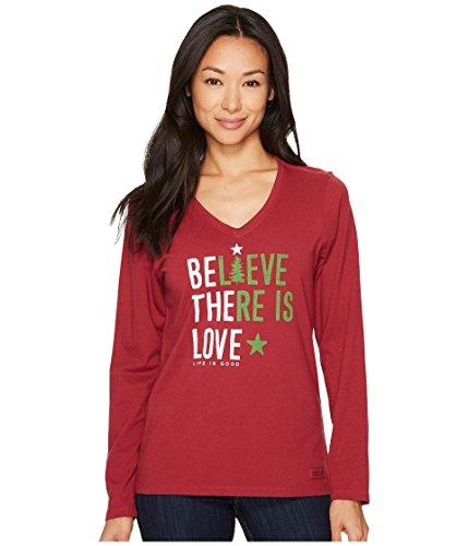 独立して共同選択独裁[ライフイズグッド] レディース シャツ Believe There Is Love Long Sleeve Crushe [並行輸入品]