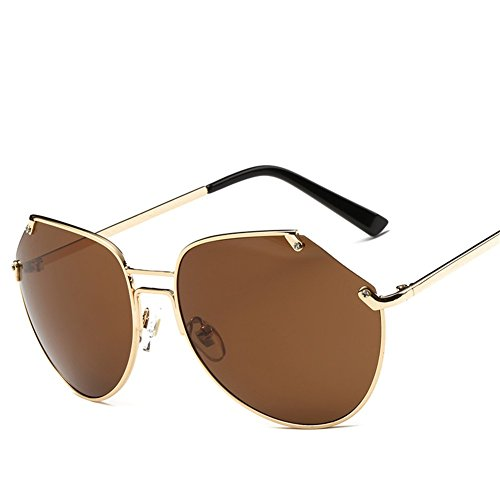 A Lunettes lunettes de unisexe irrégulières soleil de soleil grosse boîte NIFG vqdaPwq
