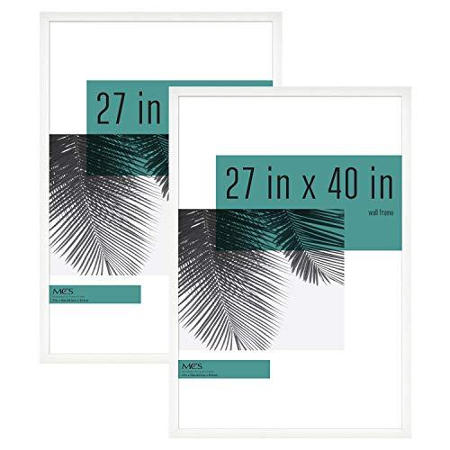 MCS Industries Studio Gallery Frames, 27×40 in, White Woodgrain, 2 Count