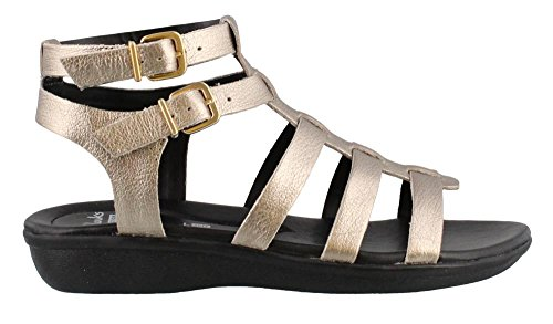 Clark Collection - CLARKS Women's Manilla Parham Gladiator Sandal, Gold/Metallic Leather, 6.5 M US
