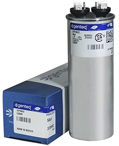 35 uF MFD x 370 VAC GE Industrial Replacement Capacitor Round # C335R 97F9611 Genteq
