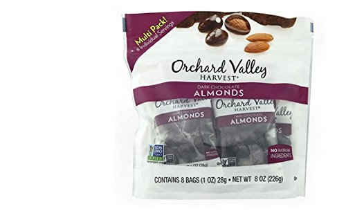 - Orchard Valley Harvest Dark Chocolate almonds 8oz(1ozx8)