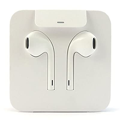 iPhone Earbuds Earphones Earpods w/Volume Buttons and Microphone w/Lightning Connector for iPhone 7 8 Plus X (Bulk Packaging)