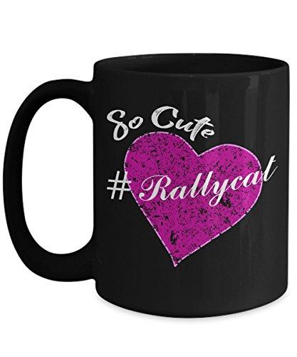 (So Cute #rallycat pink love heart St. Louis Baseball Black Coffee Mug)