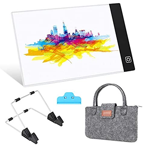 - 41szKJwgjBL - A5 LED Light Tablet Board Pad with Carry Bag, Diamond Painting Pen Cross Stitch Tool Kit for Artists Drawing Sketching Animation Stenciling and X-Ray Viewing DIY Art Craft (A5 Set with Bag)
