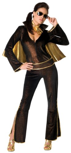 Secret Wishes Women's Elvis Sexy Costume Jumpsuit, Multicolor, Medium