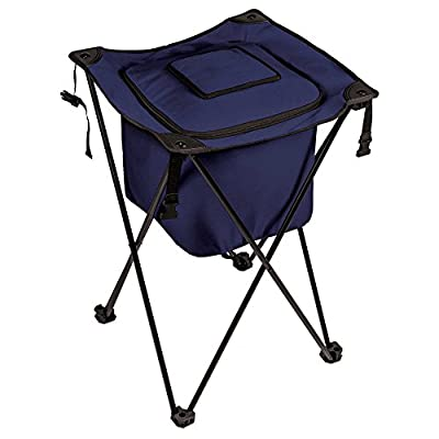 Picnic Time Sidekick Portable Standing Beverage Cooler in Navy - Outdoor and Summer Activities, Camping Trips and Travels, Outing and Park Picnics, Ice and Beverage Storage