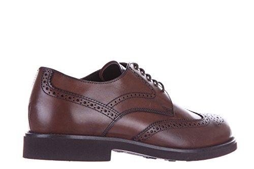 Tod's chaussures à lacets classiques homme en cuir derby allacciato bucature cao