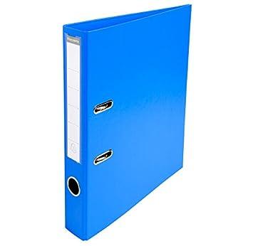 Exacompta - Lote de 5 archivadores de palanca PVC A4 D50 mm premtouch azul: Amazon.es: Oficina y papelería