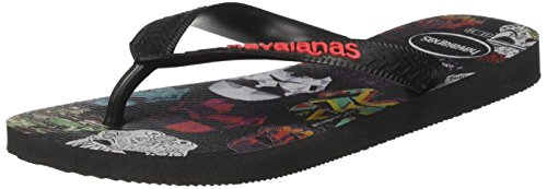 Havaianas Star Sandal Men's Flip Flop Wars Black Red Uw71qU