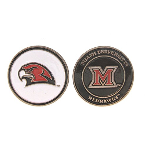 Redhawks Golf (Miami of Ohio RedHawks Double-Sided Golf Ball Marker)